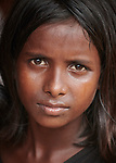 A girl in the Jamtoli Refugee Camp near Cox's Bazar, Bangladesh. More than 600,000 Rohingya refugees have fled government-sanctioned violence in Myanmar for safety in this and other camps in Bangladesh.