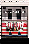 LV Hot Air Balloons 02 - Louis Vuitton shopfront display window, King Street, Perth, Western Australia.