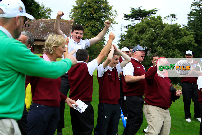 Ballybunnion team members celebrate after winning the AIG Jimmy Bruen Shield Final at the AIG Cups &amp; Shields National Finals, Carton House, Maynooth, Co Kildare.<br /> Picture Golffile | Fran Caffrey