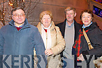 Pictured in Killarney on New Year's Eve were l-r: Tony Harrington, Eithne Sparling, Paudie Riordan and Breda Sparling