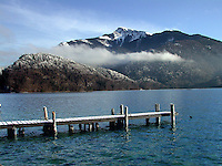 Lake, mountain, view, St Gilgen, Salzburg, Austria, 2000121305.<br />