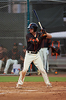 AZL Giants Black Garrett Frechette (17) at bat during an Arizona League game against the AZL Giants Orange on July 19, 2019 at the Giants Baseball Complex in Scottsdale, Arizona. The AZL Giants Black defeated the AZL Giants Orange 8-5. (Zachary Lucy/Four Seam Images)