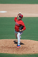 Philadelphia Phillies pitcher Fernando Lozano (51) during an Instructional League game against the Toronto Blue Jays on September 17, 2019 at Spectrum Field in Clearwater, Florida.  (Mike Janes/Four Seam Images)