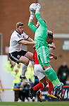Jack O'Connell of Sheffield Utd pressures Jordan Smith of Nottingham Forest the Championship match at the City Ground Stadium, Nottingham. Picture date 30th September 2017. Picture credit should read: Simon Bellis/Sportimage
