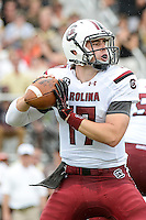 September 28, 2013 - Orlando, FL, U.S: South Carolina Gamecocks quarterback Dylan Thompson (17) looks to pass the ball during 1st half NCAA football game action between the South Carolina Gamecocks and the UCF Knights at Bright House Networks Stadium in Orlando, Fl