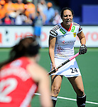 The Hague, Netherlands, June 08: During the first half during the field hockey group match (Women - Group B) between USA and Germany on June 8, 2014 during the World Cup 2014 at GreenFields Stadium in The Hague, Netherlands. Final score 4-1 (1-0) (Photo by Dirk Markgraf / www.265-images.com) *** Local caption *** Maike Stoeckel #24 of Germany