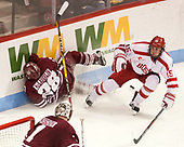 Jake McLaughlin (UMass - 28), Nick Roberto (BU - 15) - The Boston University Terriers defeated the University of Massachusetts Minutemen 3-1 on Friday, February 3, 2017, at Agganis Arena in Boston, Massachusetts.The Boston University Terriers defeated the visiting University of Massachusetts Amherst Minutemen 3-1 on Friday, February 3, 2017, at Agganis Arena in Boston, MA.