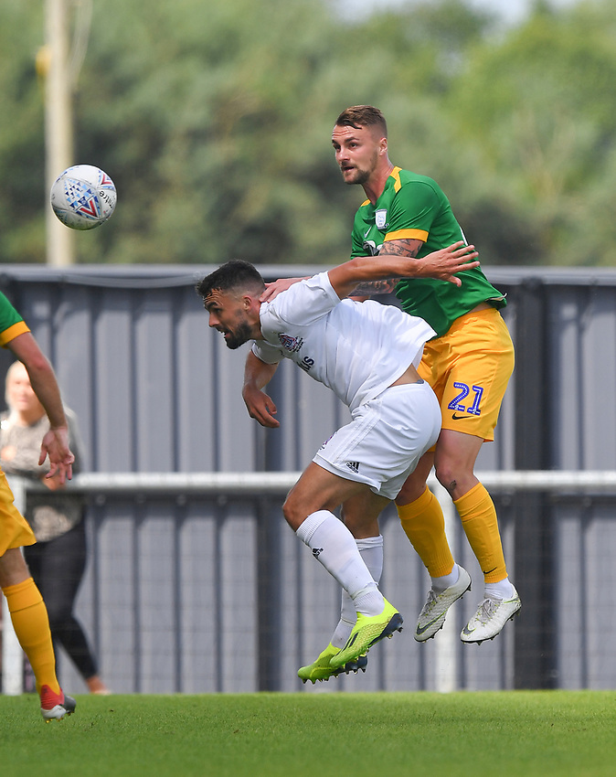 Preston North End's Patrick Bauer<br /> <br /> Photographer Dave Howarth/CameraSport<br /> <br /> Football Pre-Season Friendly - AFC Flyde v Preston North End - Saturday July 13th 2019 - Mill Farm - Flyde<br /> <br /> World Copyright © 2019 CameraSport. All rights reserved. 43 Linden Ave. Countesthorpe. Leicester. England. LE8 5PG - Tel: +44 (0) 116 277 4147 - admin@camerasport.com - www.camerasport.com