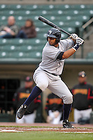 Scranton Wilkes-Barre Yankees outfielder Chris Dickerson #7 at bat during a game against the Rochester Red Wings at Frontier Field on April 12, 2011 in Rochester, New York.  Scranton defeated Rochester 5-3.  Photo By Mike Janes/Four Seam Images