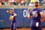 OKLAHOMA CITY, OK - JUNE 04: Taylor Van Zee #3 of the Washington celebrates after catching a pop up for an out against the Florida State Seminoles during the Division I Women's Softball Championship held at USA Softball Hall of Fame Stadium - OGE Energy Field on June 4, 2018 in Oklahoma City, Oklahoma. (Photo by Shane Bevel/NCAA Photos via Getty Images)