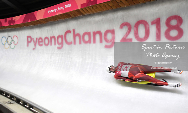 Giorgi Sogoiani (GEO). Mens luge. Pyeongchang2018 winter Olympics. Alpensia sliding centre. Alpensia. Gangneung. Republic of Korea. 11/02/2018. ~ MANDATORY CREDIT Garry Bowden/SIPPA - NO UNAUTHORISED USE - +44 7837 394578