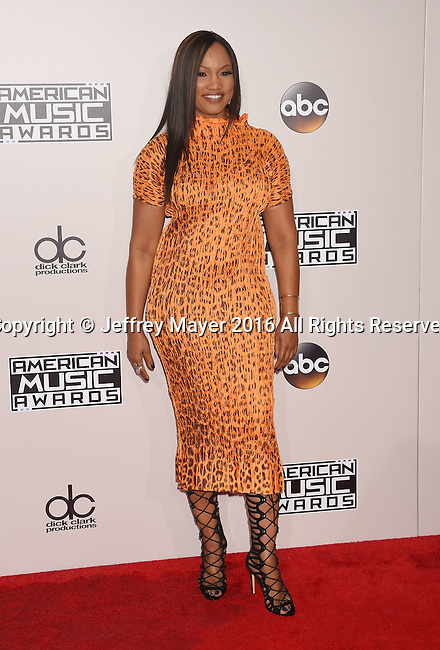 LOS ANGELES, CA - NOVEMBER 20: Actress Garcelle Beauvais arrives at the 2016 American Music Awards at Microsoft Theater on November 20, 2016 in Los Angeles, California.