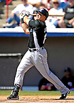 18 March 2007: Florida Marlins first baseman Mike Jacobs in action against the Washington Nationals at Space Coast Stadium in Viera, Florida...Mandatory Photo Credit: Ed Wolfstein Photo