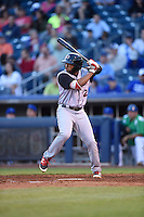 ***Temporary Unedited Reference File***Arkansas Travelers shortstop Sherman Johnson (22) during a game against the Tulsa Drillers on April 28, 2016 at ONEOK Field in Tulsa, Oklahoma.  Tulsa defeated Arkansas 5-4.  (Mike Janes/Four Seam Images)
