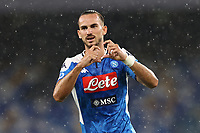 Fabian Ruiz of SSC Napoli celebrates after scoring a goal<br /> during the Serie A football match between SSC  Napoli and SS Lazio at stadio San Paolo in Naples ( Italy ), August 01st, 2020. Play resumes behind closed doors following the outbreak of the coronavirus disease. <br /> Photo Cesare Purini / Insidefoto