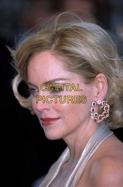 SHARON STONE.Cannes Film Festival.Ref: 11726.headshot, portrait, diamond, ruby earrings.www.capitalpictures.com.sales@capitalpictures.com.©Capital Pictures