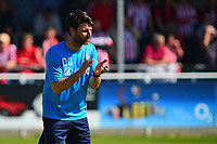 Lincoln City manager Danny Cowley during the pre-match warm-up <br /> <br /> Photographer Andrew Vaughan/CameraSport<br /> <br /> Vanarama National League - Eastleigh v Lincoln City - Saturday 8th April 2017 - Silverlake Stadium - Eastleigh<br /> <br /> World Copyright &copy; 2017 CameraSport. All rights reserved. 43 Linden Ave. Countesthorpe. Leicester. England. LE8 5PG - Tel: +44 (0) 116 277 4147 - admin@camerasport.com - www.camerasport.com