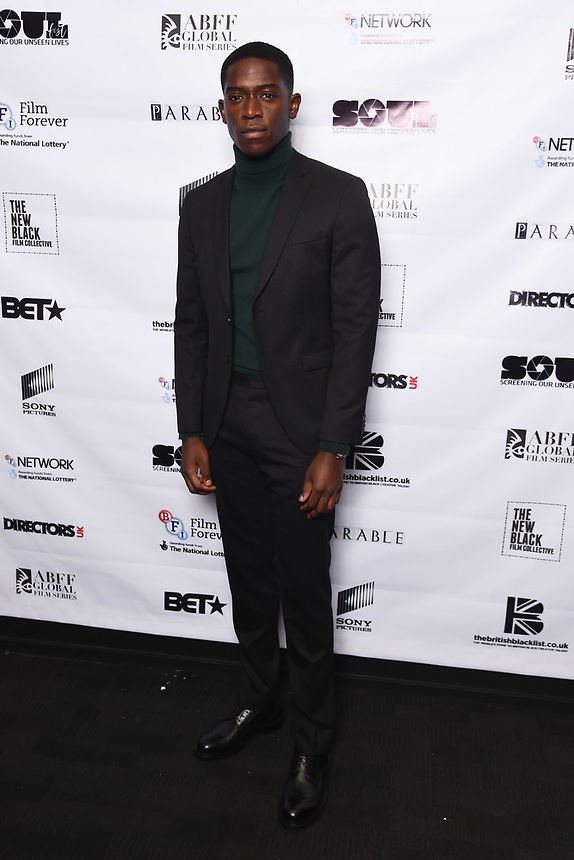 """Damson Idris<br /> arriving for the """"Farming"""" screening as part of the S.O.U.L. Festival at the BFI Southbank, London<br /> <br /> ©Ash Knotek  D3517 30/08/2019"""