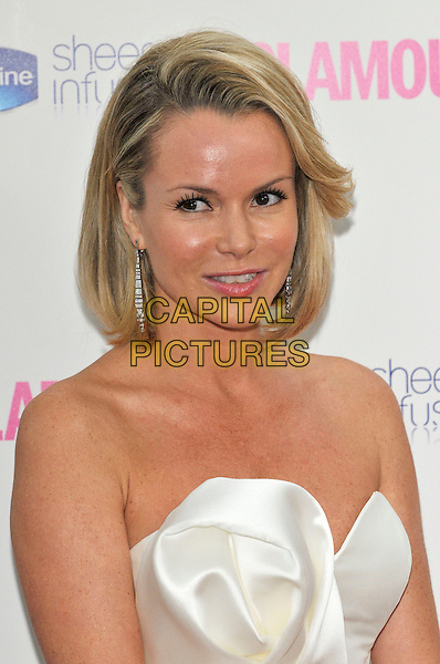 AMANDA HOLDEN .Glamour Women Of The Year Awards - Inside Arrivals, Berkeley Square Gardens, London, England, UK, .June 8th 2010..portrait headshot strapless white silk smiling .CAP/PL.©Phil Loftus/Capital Pictures.