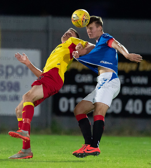 26.08.2019 Rangers Colts v Partick Thistle: Lewis Mansell and Lewis Mayo