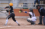 Wildcats' Lauren Lesniak works behind the plate in a game against College of Southern Idaho in Carson City, Nev., on Friday, Feb. 27, 2015. <br /> Photo by Cathleen Allison/Nevada Photo Source