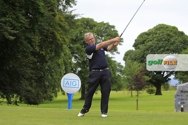 Stephen Munnelly (Castlebar) on the 1st tee during the AIG Connacht Pierce Purcell Shield Semi-Finals of the AIG Connacht Cups &amp; Shields Finals 2016 at Ballinrobe Golf Club, Ballinrobe Co. Mayo on Saturday 6th August 2016.<br /> Picture:  Golffile | Thos Caffrey<br /> <br /> All photos usage must carry mandatory copyright credit   (&copy; Golffile | Thos Caffrey)