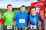 Denis Naughton John Mannix Listry and Kieran O'Donoghue Currow at  the Puck Warriors Duathlon in Killorglin on Saturday