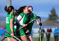 Action from the National Women's Association Under-18 Hockey Tournament 3rd place playoff match between Manawatu and Tauranga at Twin Turfs in Clareville, New Zealand on Saturday, 15 July 2017. Photo: Dave Lintott / lintottphoto.co.nz