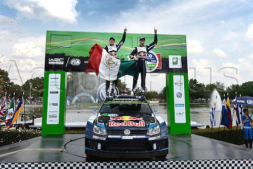 08.03.2015. Guanajuato, Mexico. WRC Rally of Mexico.  Sebastien Ogier (FR) and Julien Ingrassia (FR) - Volkswagen Polo WRC