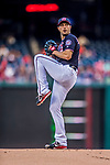 28 April 2017: Washington Nationals starting pitcher Max Scherzer on the mound against the New York Mets at Nationals Park in Washington, DC. The Mets defeated the Nationals 7-5 to take the first game of their 3-game weekend series. Mandatory Credit: Ed Wolfstein Photo *** RAW (NEF) Image File Available ***