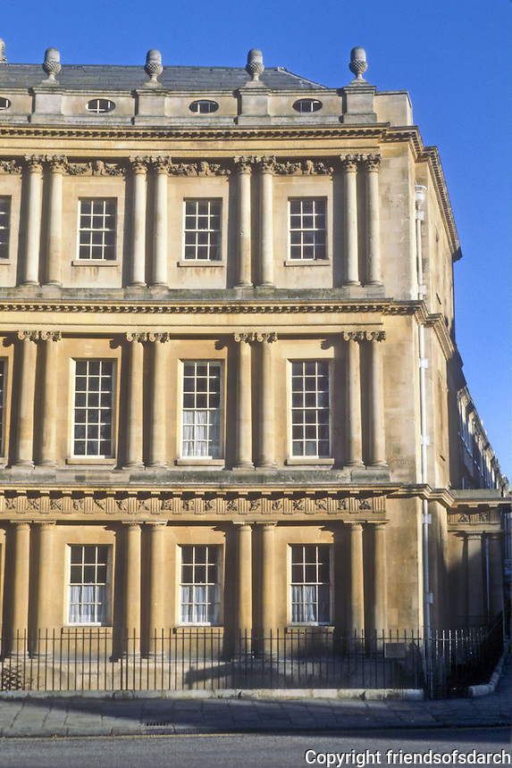 Bath: The Circus, elevation. John Wood the Elder, 1754.