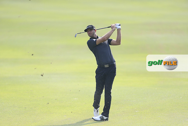 Dustin Johnson (USA) on the 17th fairway during Round 2 of the 2015 UBS Hong Kong Open at the Hong Kong Golf Club in Hong Kong on Friday 23/10/15.<br /> Picture: Thos Caffrey | Golffile