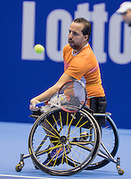 Rotterdam, Netherlands, December 15, 2016, Topsportcentrum, Lotto NK Tennis,  Wheelchair, Koen Meerwijk (NED) <br /> Photo: Tennisimages/Henk Koster