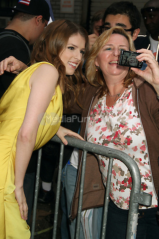 NEW YORK, NY - OCTOBER 4: Anna Kendrick at the Ed Sullivan Theater for an appearance on Late Show with David Letterman in New York City. October 4, 2012. ©RW/MediaPunch Inc.