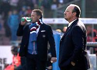 Rafael Benitez durante l'incontro di calcio di Serie A  Napoli Sampdoria allo  Stadio San Paolo  di Napoli , 6 gennaio 2014