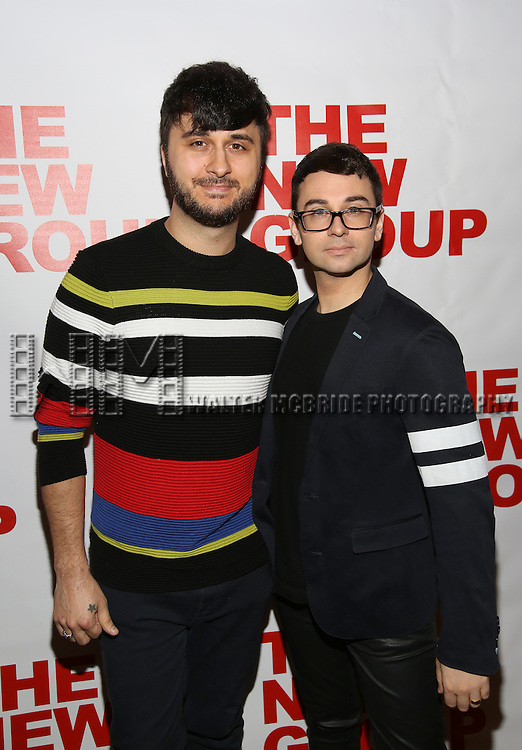 "Brad Walsh and Christian Siriano attends the Opening Night of The New Group World Premiere of ""All The Fine Boys"" at the The Green Fig Urban Eatery on March 1, 2017 in New York City."