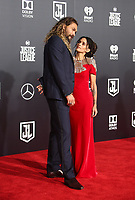 LOS ANGELES, CA - NOVEMBER 13: Jason Momoa, Lisa Bonet, at the Justice League film Premiere on November 13, 2017 at the Dolby Theatre in Los Angeles, California. Credit: Faye Sadou/MediaPunch /NortePhoto.com