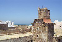 The spectacular view from the roof of The Hotel Cap Sim in Essouira, Morocco