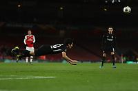 28th November 2019; Emirates Stadium, London, England; UEFA Europa League Football, Arsenal versus Frankfurt; Makoto Hasebe of Eintracht Frankfurt heads the ball clear - Editorial Use