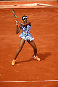 4th June 2017, Roland Garros, Paris, France; French Open tennis championships;   VENUS WILLIAMS (USA)  during day seven match of the 2017 French Open on June 4, 2017, at Stade Roland-Garros in Paris, France.