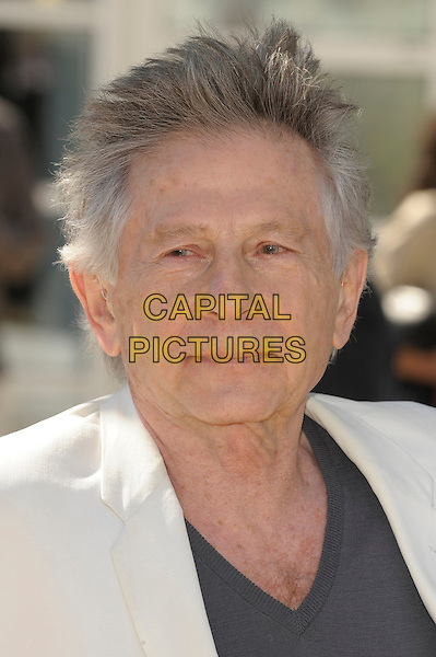 Roman Polanski.'La Venus A La Fourrure'  photocall at the 66th Cannes Film Festival, France 23rd May 2013.headshot portrait white suit jacket grey gray top  .CAP/PL.©Phil Loftus/Capital Pictures.