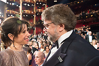 Oscar&reg; nominee Sally Hawkins and Oscar&reg; winner Guillermo del Toro during The 90th Oscars&reg; at the Dolby&reg; Theatre in Hollywood, CA on Sunday, March 4, 2018.<br /> *Editorial Use Only*<br /> CAP/PLF/AMPAS<br /> Supplied by Capital Pictures