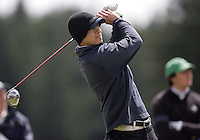 20 May, 2010:  University of Davis's Austin Graham drives the ball down the fairway on hole one during the NCAA West Regional First Round at Gold Mountain Golf Course in Bremerton, Washington.