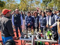 Querétaro, Qro. 20 de enero de 2018.- Entrega de Rehabilitación de espacios Deportivos en el Parque La Joya; por parte del alcalde capitalino, Marcos Aguilar Vega. Foto: Demian Chávez