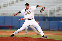 Western Michigan Broncos pitcher Will Nimke #26 delivers a pitch during a game against the Illinois State Redbirds at Chain of Lakes Stadium on March 10, 2012 in Winter Haven, Florida.  Illinois State defeated Western Michigan 10-9.  (Mike Janes/Four Seam Images)