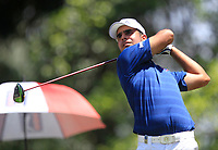 Shubhankar Sharma (IND) in action on the 18th during Round 4 of the Maybank Championship at the Saujana Golf and Country Club in Kuala Lumpur on Saturday 4th February 2018.<br /> Picture:  Thos Caffrey / www.golffile.ie<br /> <br /> All photo usage must carry mandatory copyright credit (&copy; Golffile | Thos Caffrey)