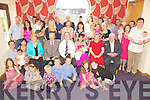 Congratulations - Mossy & Mary Brosnan from Sundays Well, Tralee, seated centre having a wonderful time with family and friends at the Christening celebrations for their son Ciara?n held in The Ballyroe Heights Hotel on Saturday following the ceremony in St. Brendan's Church..Mossy Correct