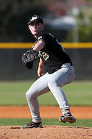 Nick Wittgren #28 of the Purdue Boilermakers during a game vs the Pittsburgh Panthers at the Big East-Big Ten Challenge at Walter Fuller Complex in St. Petersburg, Florida;  February 20, 2011.  Purdue defeated Pitt 5-3.  Photo By Mike Janes/Four Seam Images