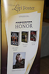 """Author Lori Foster """"The Edge of Honor"""" poster at Romantic Times Booklovers Annual Convention 2011 - The Book Industry Event of the Year - April 6th to April 10th at the Westin Bonaventure, Los Angeles, California for readers, authors, booksellers, publishers, editors, agents and tomorrow's novelists - the aspiring writers. (Photo by Sue Coflin/Max Photos)"""