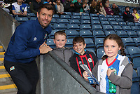 Blackburn Rovers' Elliott Ward with Fans at todays match <br /> <br /> Photographer /Rachel HolbornCameraSport<br /> <br /> The EFL Checkatrade Trophy - Blackburn Rovers v Stoke City U23s - Tuesday 29th August 2017 - Ewood Park - Blackburn<br />  <br /> World Copyright &copy; 2018 CameraSport. All rights reserved. 43 Linden Ave. Countesthorpe. Leicester. England. LE8 5PG - Tel: +44 (0) 116 277 4147 - admin@camerasport.com - www.camerasport.com